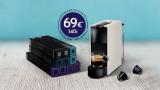 Nespresso Starter Pack:100的Essenza Mini和69胶囊€!