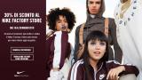 Saldi Nike: 30% di sconto in store con questo coupon