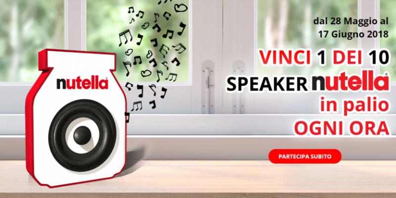 Nutella Musica partecipa e vinci: 10 speaker bluetooth in palio ogni ora!