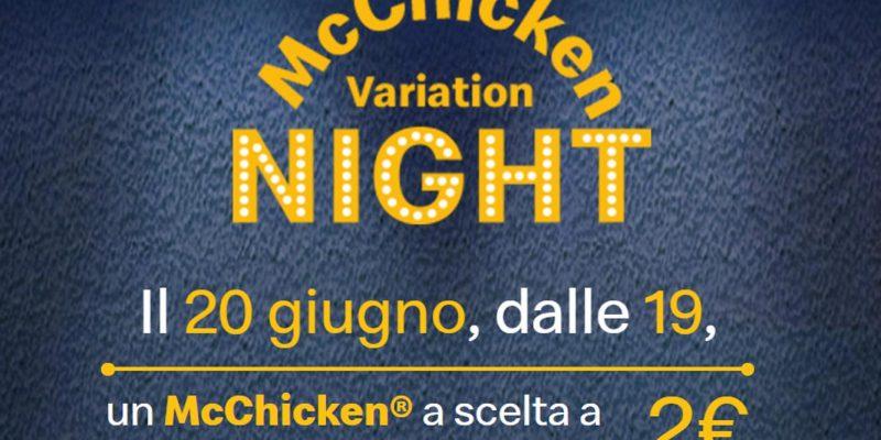 McChicken Variation Night: 2 € شطيرة 20 يونيو من ماكدونالدز