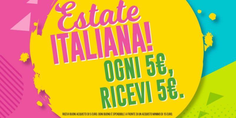 Promo Piazza Italia: buono sconto da 5€ in regalo ogni 5€ spesi