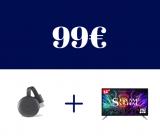 TV Stream от 32 ″ + Chromecast 3 до 99 €: откройте для себя безумное предложение Carrefour