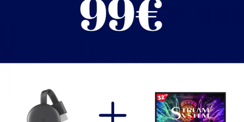 TV Stream da 32″ + Chromecast 3 a 99€: scopri l'offerta folle di Carrefour