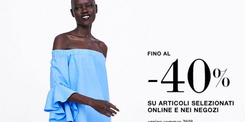 ZARA: saldi fino al 40% online e nei negozi | Estate 2019