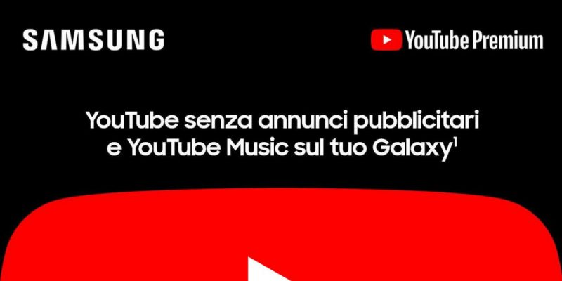 YouTube Music gratis per 4 o 2 mesi acquistando Samsung su Monclick: come fare