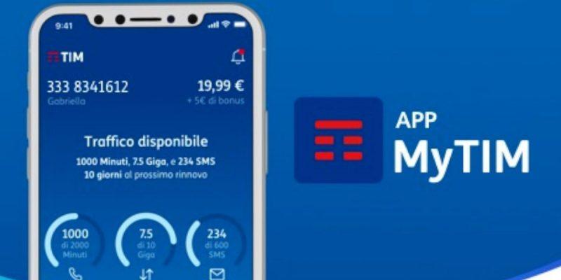 TIM regala 5€ di credito gratis con l'app MyTIM | Solo per oggi
