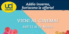 UCI Cinemas: arrivano gli sconti di primavera sugli spettacoli di tutta la settimana