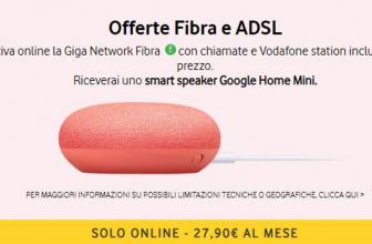 Obtenga Google Home Mini como regalo activando Vodafone Giga Network