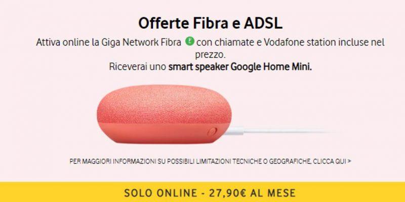 Ricevi Google Home Mini in regalo attivando Vodafone Giga Network
