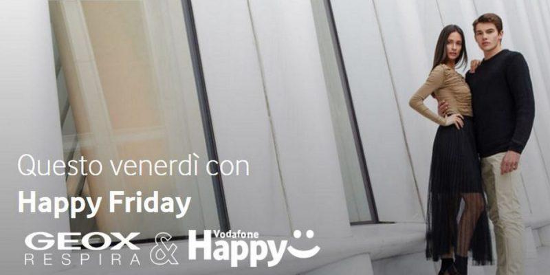 Vodafone Happy Friday regala un buono sconto di 25€ per GEOX   4 Ottobre